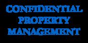 Confidential property management logo