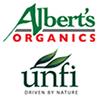 Albert's organics and unfi logos